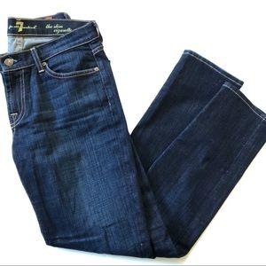 7 for all Mankind Slim Cigarette Dark Jeans